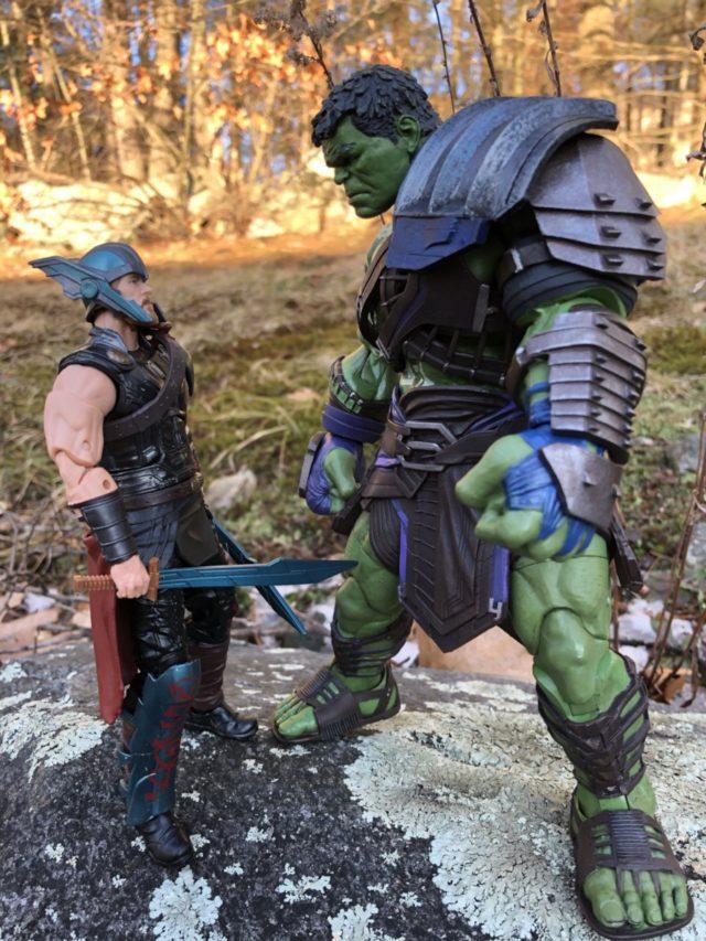 Size Comparison DST Gladiator Hulk vs Marvel Legends Ragnarok Thor