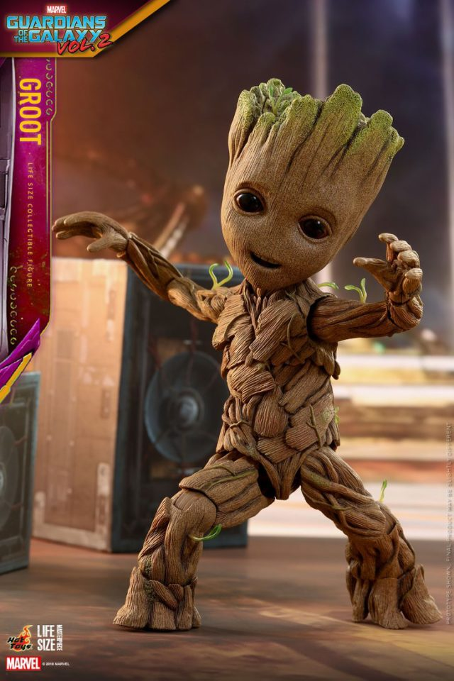 Dancing Baby Groot Life Size Figure Hot Toys Guardians of the Galaxy Vol 2