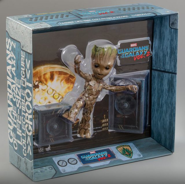 Hot Toys Life Size Dancing Groot Figure Packaging
