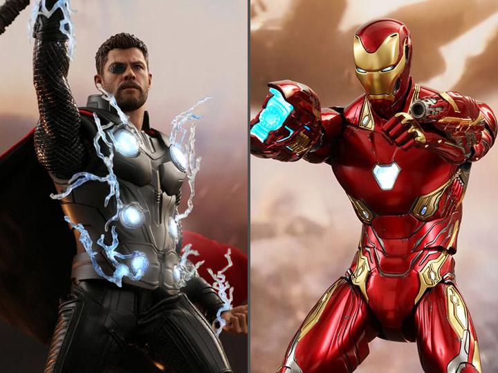 Imà Genes De Iron Man: Hot Toys Infinity War Thor & Iron Man 1/6 Figures Up For