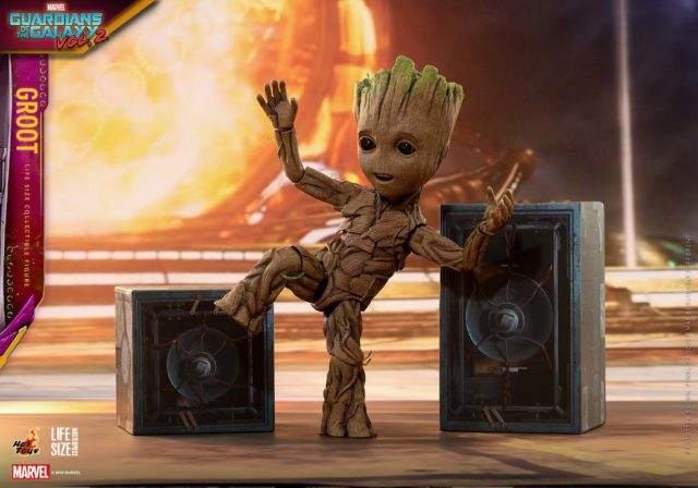Life Size Dancing Baby Groot Hot Toys 2018 Figure GOTG Vol 2
