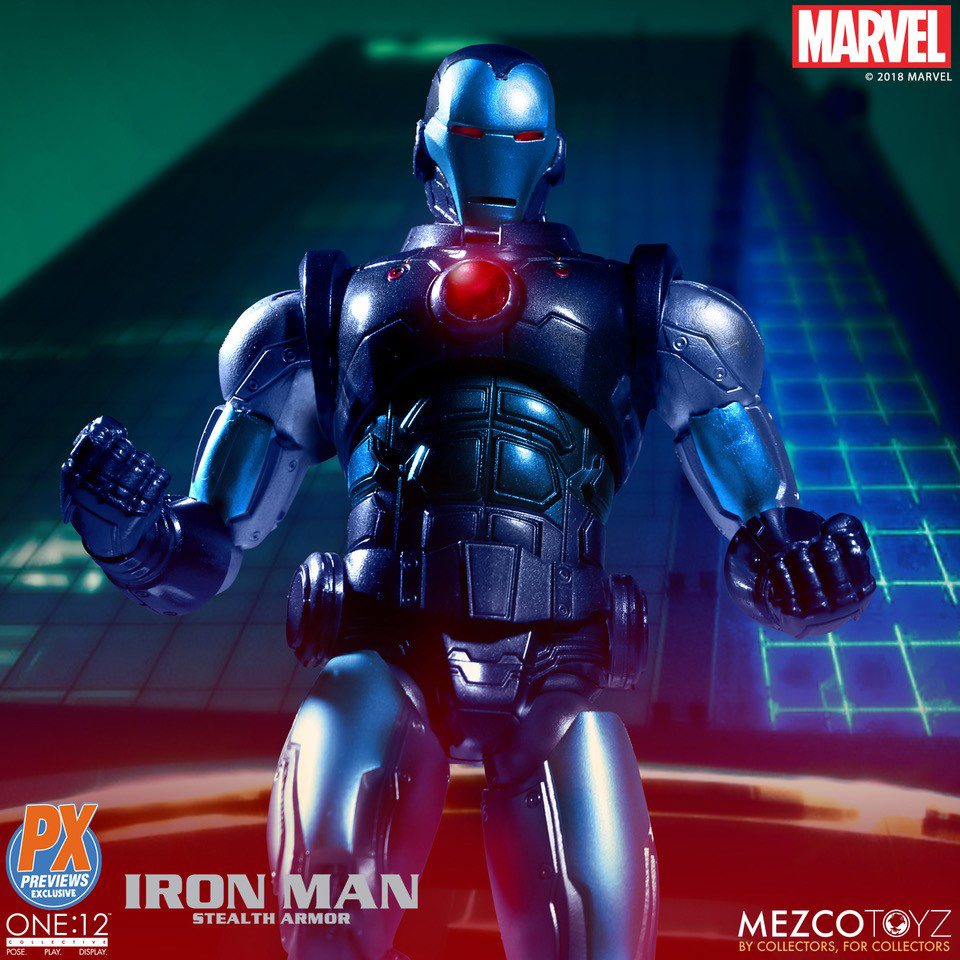 Mezco One:12 Collectif IRON MAN STEALTH ARMOR Marvel PX Action Figure