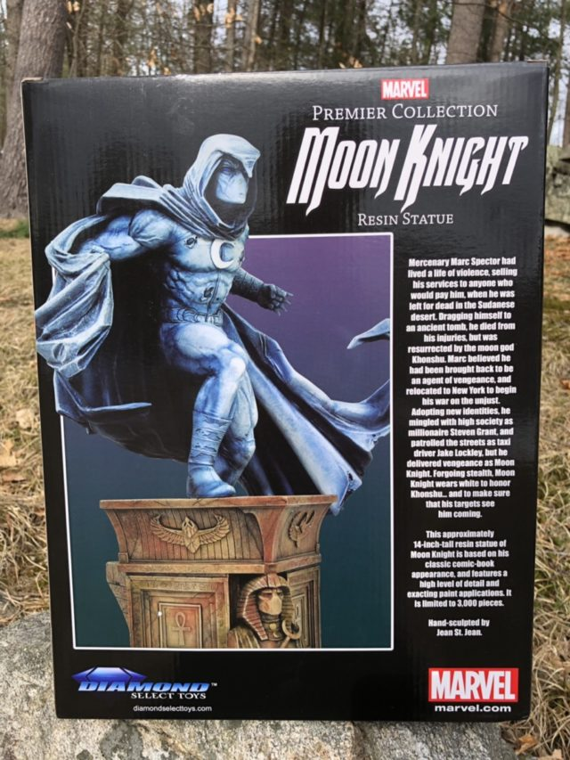 Box Back DST Moon Knight Premier Collection Statue