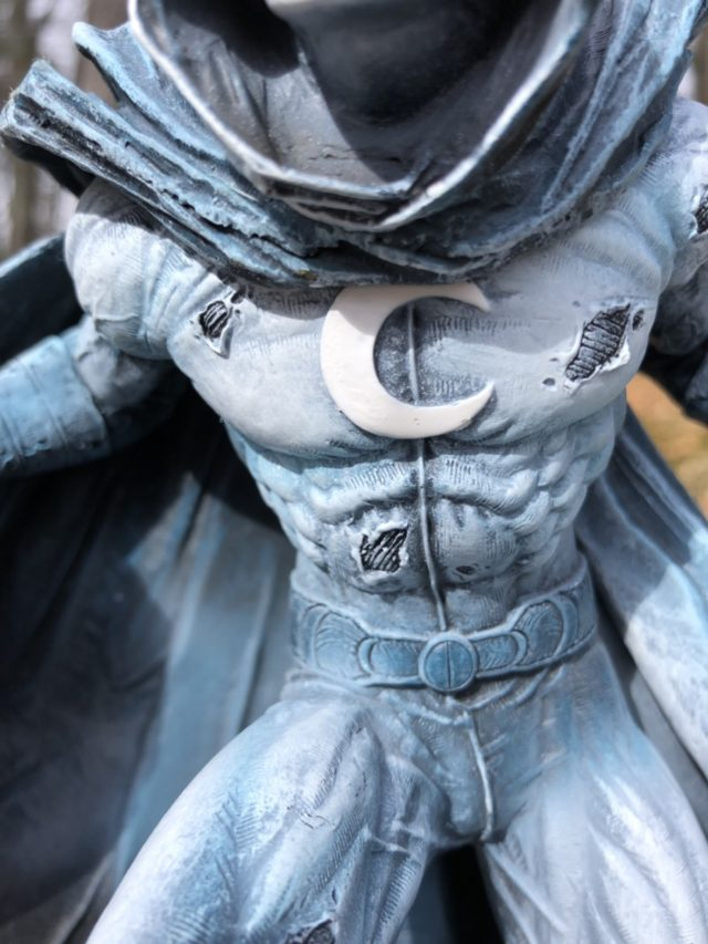 Close-Up of Moon Knight DST Statue
