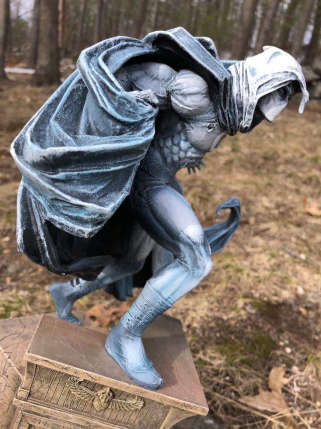 Side View of Diamond Select Moon Knight Statue