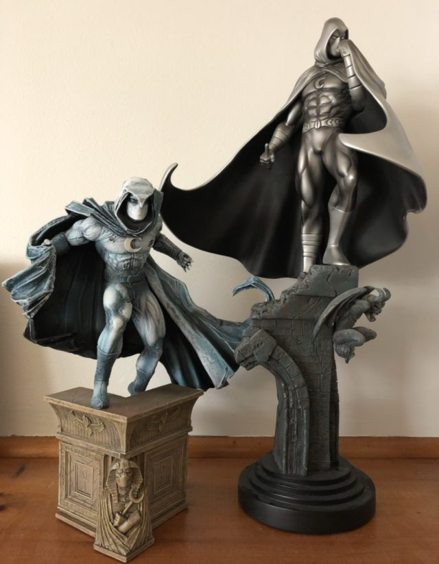 Size Comparison Bowen Designs Moon Knight vs. Diamond Select Toys Statue