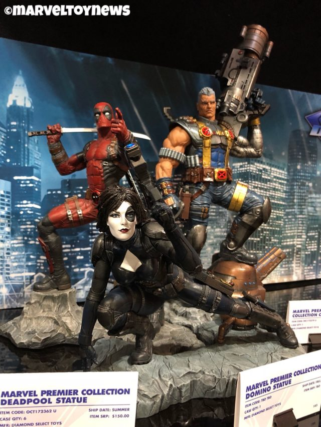 Marvel Premier Collection Cable Deadpool Domino Statues