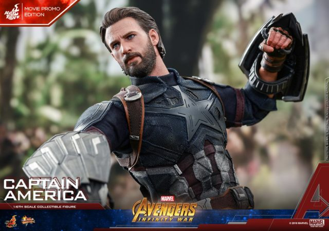 Avengers Infinity War Captain America Hot Toys MMS Figure Wakanda Shields