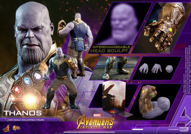 Avengers Infinity War Hot Toys Thanos Figure and Accessories