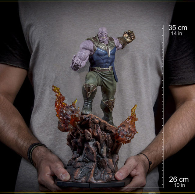 Avengers Infinity War Iron Studios Thanos Statue Size Scale Comparison Photo