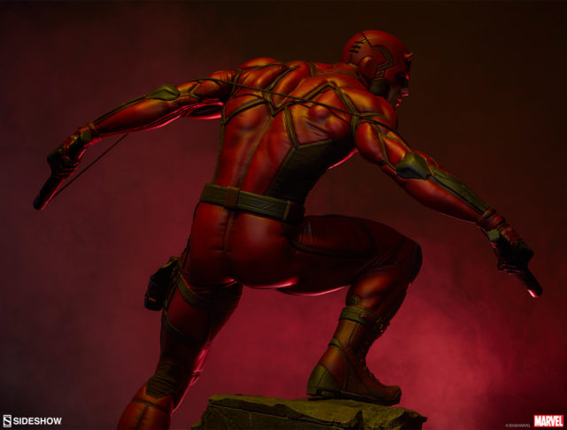 Back of Sideshow Collectibles Daredevil Premium Format Figure Statue 2019