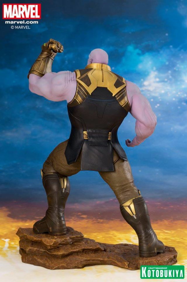 Back of Thanos Kotobukiya ARTFX+ Statue Avengers Infinity War