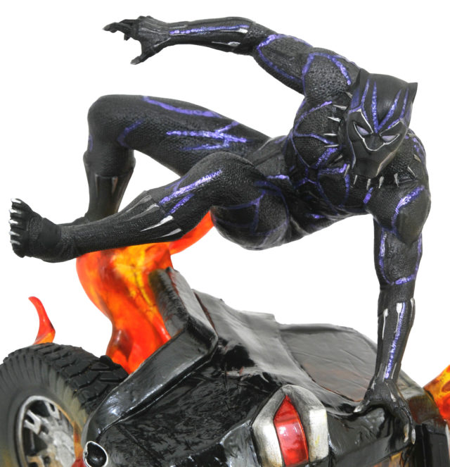 Black Panther Leaping Marvel Gallery Venom &...