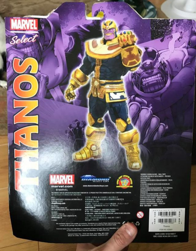 Box Back Disney Store Exclusive Marvel Select Thanos Figure Modern