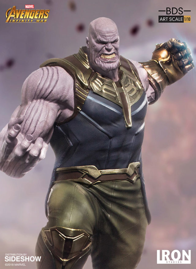 Close-Up of Iron Studios Thanos Art Scale Statue