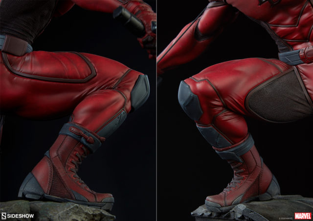 Close-Up of Sideshow PF Daredevil Boots