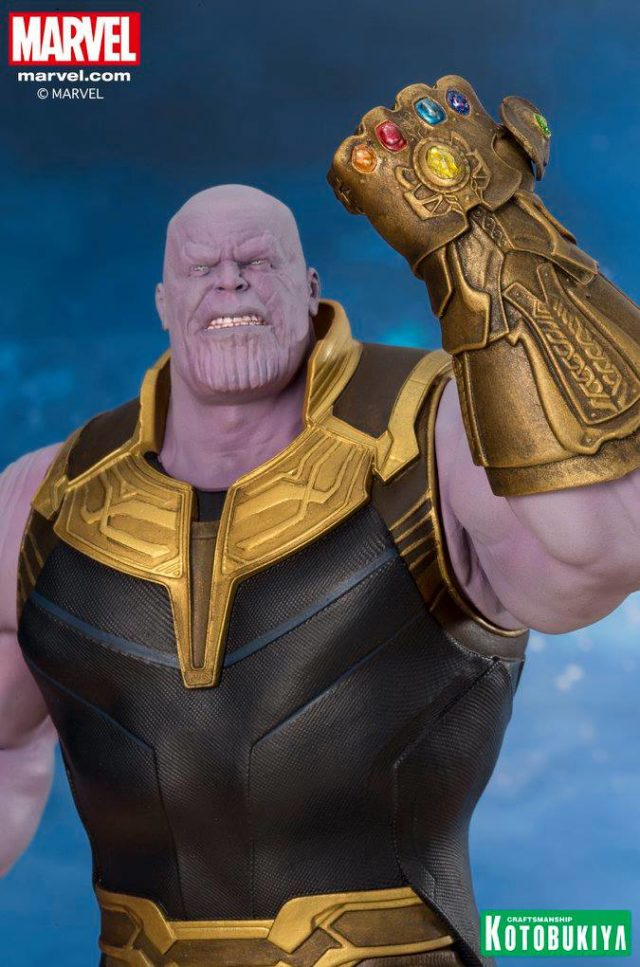 Close-Up of Thanos Kotobukiya ARTFX+ Infinity War Statue