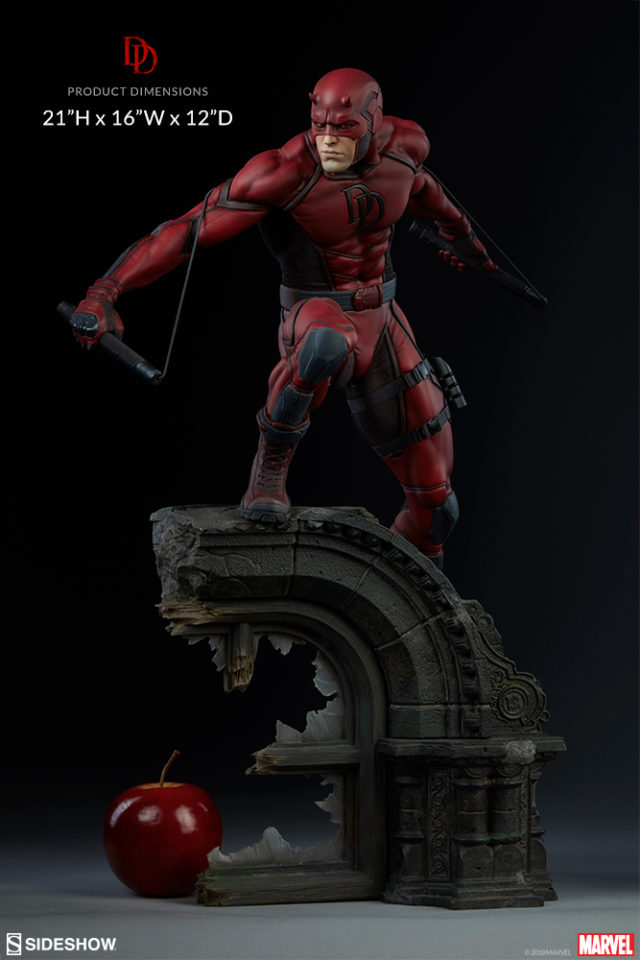 Daredevil Sideshow Premium Format Figure Size Scale Comparison Photo