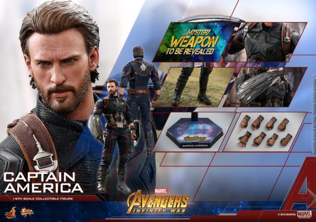 Hot Toys Avengers 3 Captain America Figure and Accessories