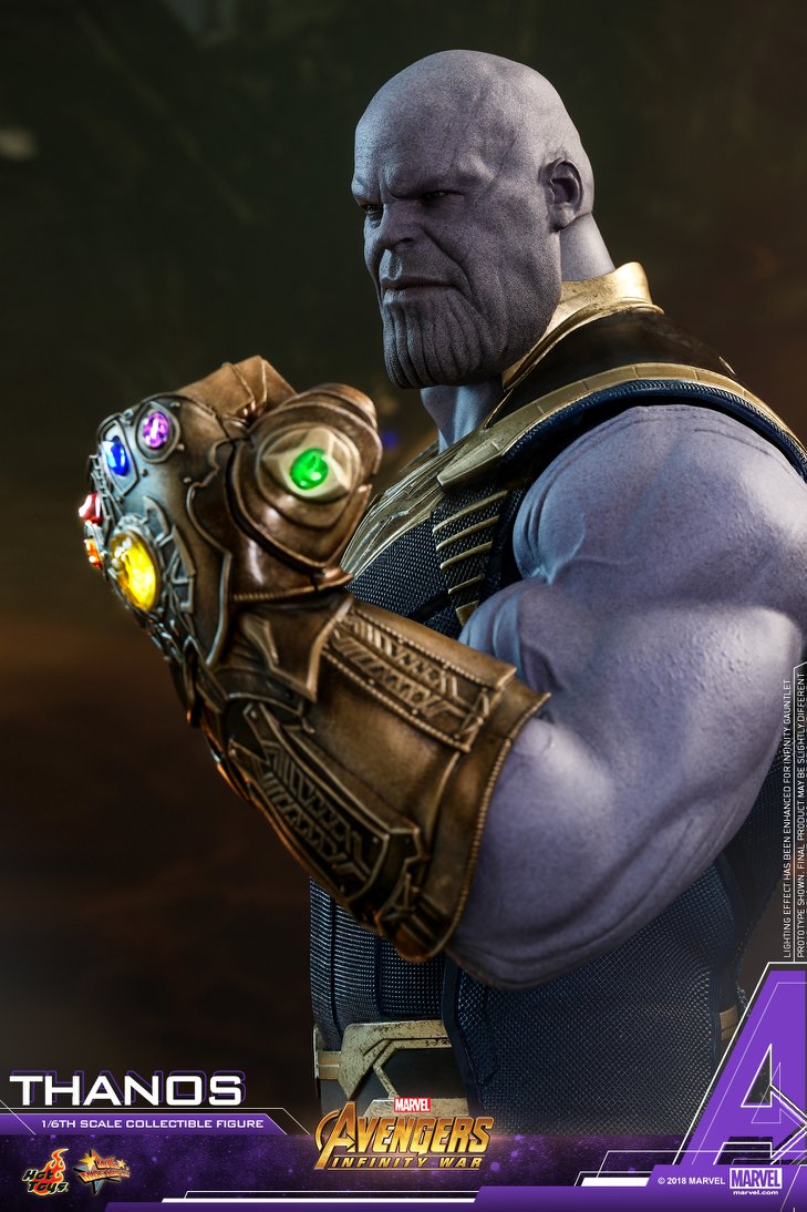 Infinity War Hot Toys Thanos Infinity Gauntlet Order on Spiderman Addition