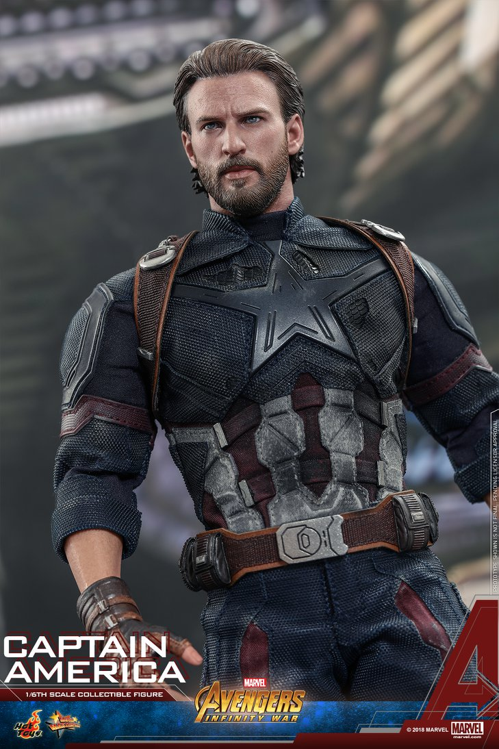 Toys For Chris : Hot toys movie promo infinity war captain america up for