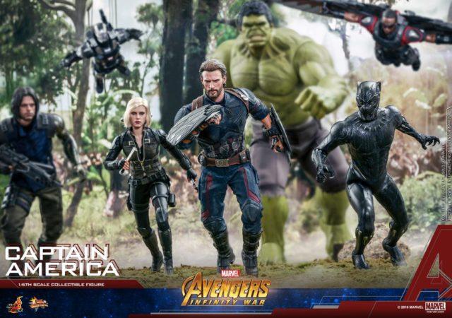 Hot Toys Avengers Infinity War Figures Captain America Black Widow Winter Soldier