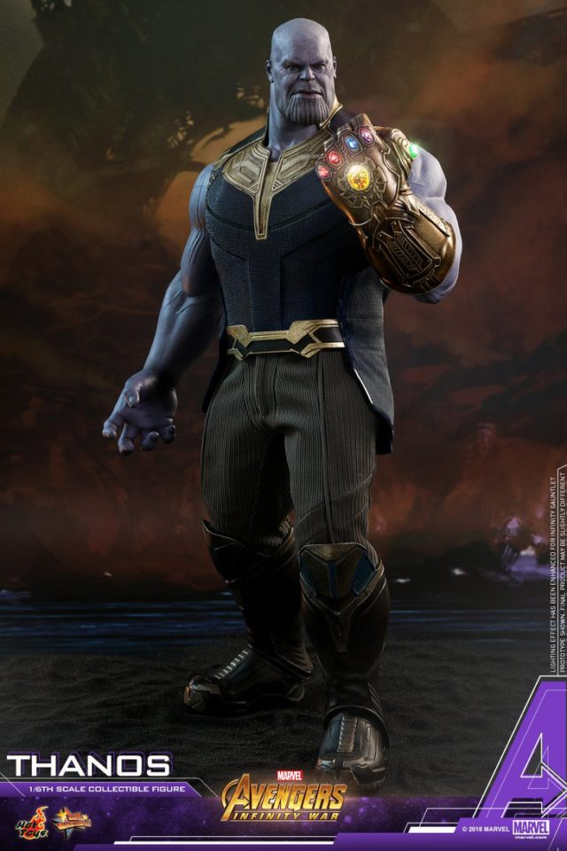 Hot Toys Avengers Infinity War Thanos Figure with Infinity Gauntlet