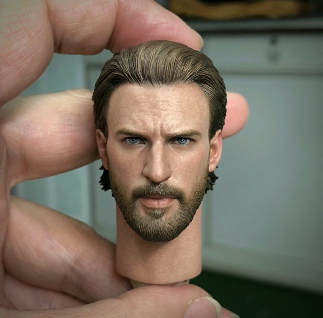 Hot Toys Chris Evans Infinity War Head Sculpt Close-Up