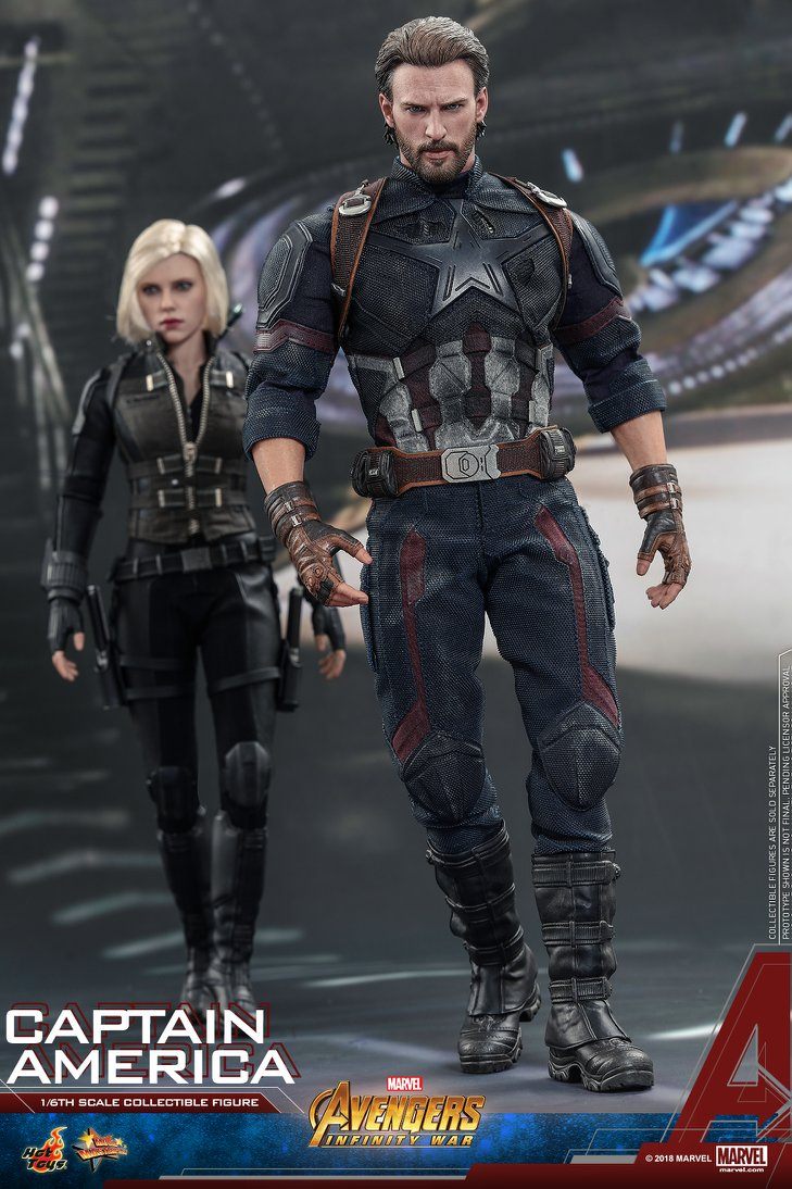 Hot Toys MOVIE PROMO Infinity War Captain America Up for ...