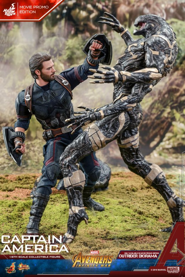 Hot Toys Infinity War Captain America Sixth Scale Figure Punching Outrider