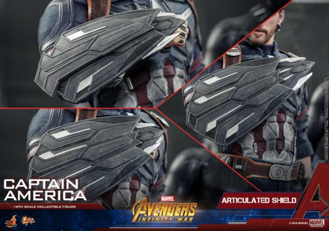 Hot Toys Infinity War Captain America Wakandan Shields Articulated