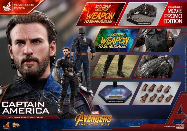 Hot Toys Infinity War MOVIE PROMO Captain America Figure and Accessories