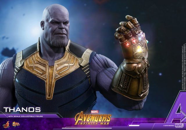 Hot Toys Thanos Infinity War Figure with Articulated Fingers Infinity Gauntlet