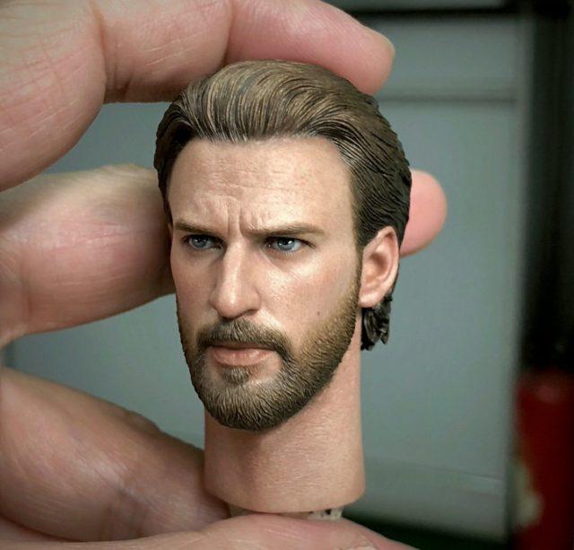 Infinity War Hot Toys Captain America Chris Evans Portrait Head Sculpt