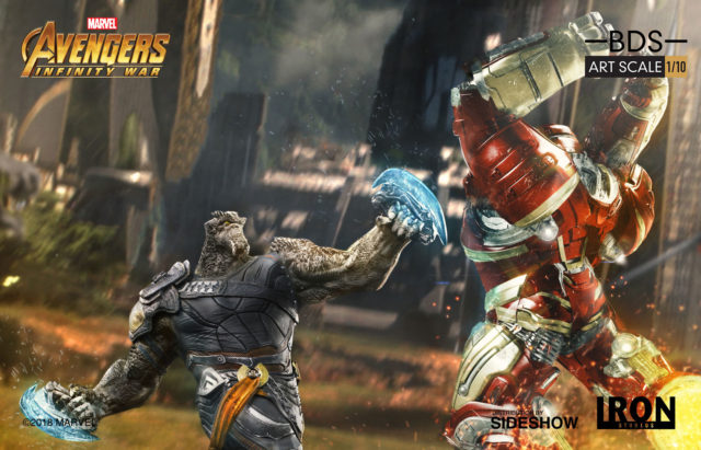 Iron Studios Hulkbuster Iron Man vs Cull Obsidian Statues Battle Diorama Series