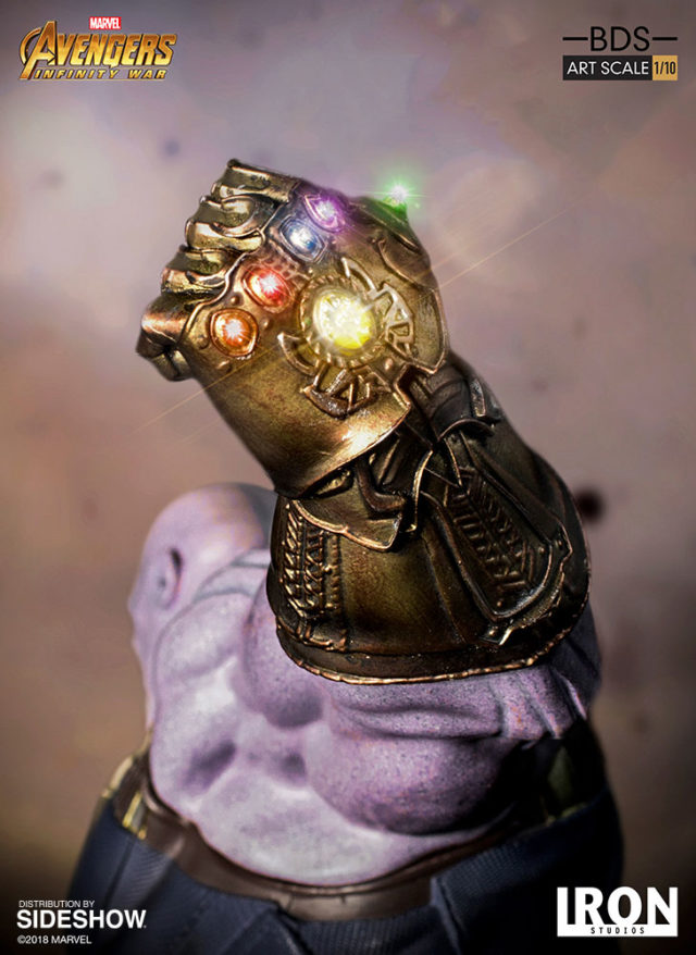 Iron Studios Infinity Gauntlet on Infinity War Thanos Statue