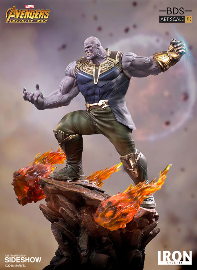 Iron Studios Thanos Statue Side View