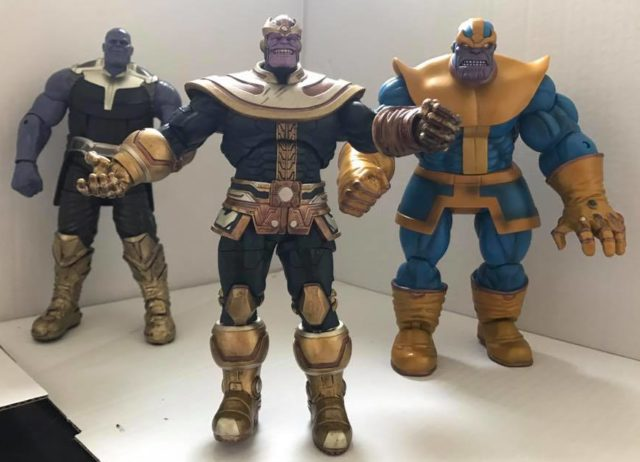 Marvel Select Thanos Classic Modern and Marvel Legends BAF Scale Comparison
