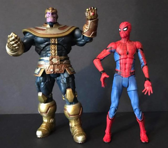 Modern Thanos DST Marvel Select Figure Size Comparison with Spider-Man Homecoming Select Figure