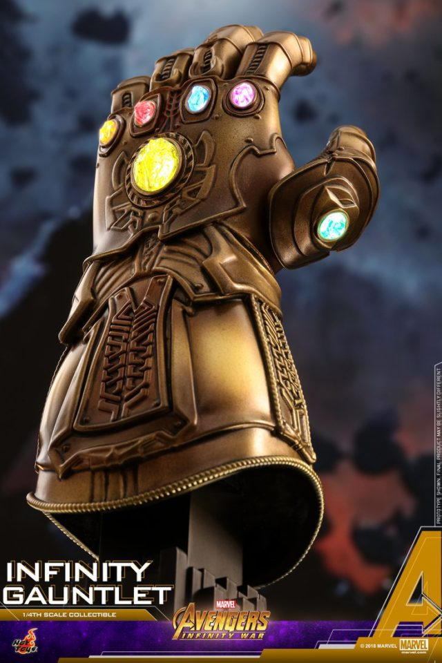 Quarter Scale Infinity Gauntlet Hot Toys Statue Prop Replica