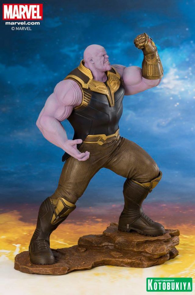 Side View of Avengers Infinity War ARTFX+ Thanos Figure PVC