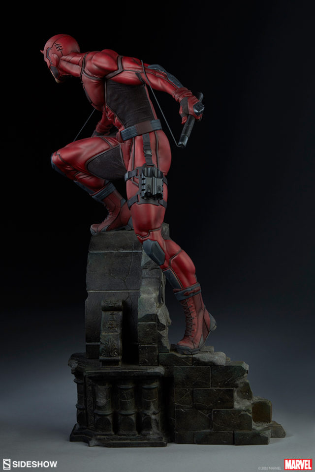 Side View of Premium Format Daredevil Statue 2018