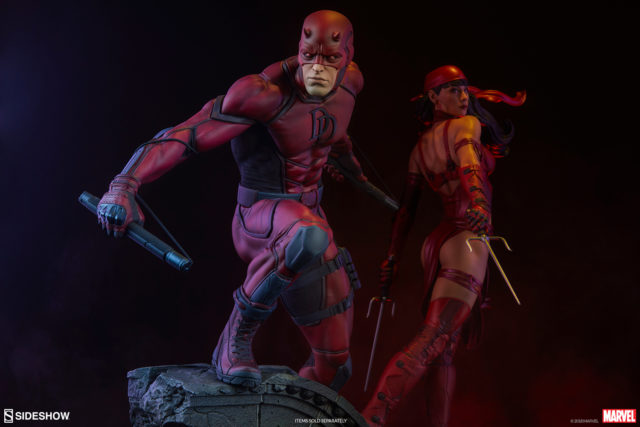 Sideshow Collectibles Marvel Premium Format Figures Daredevil and Elektra