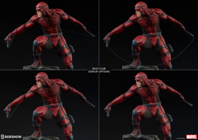Sideshow Daredevil Premium Format Statue Billy Club Pose Display Options
