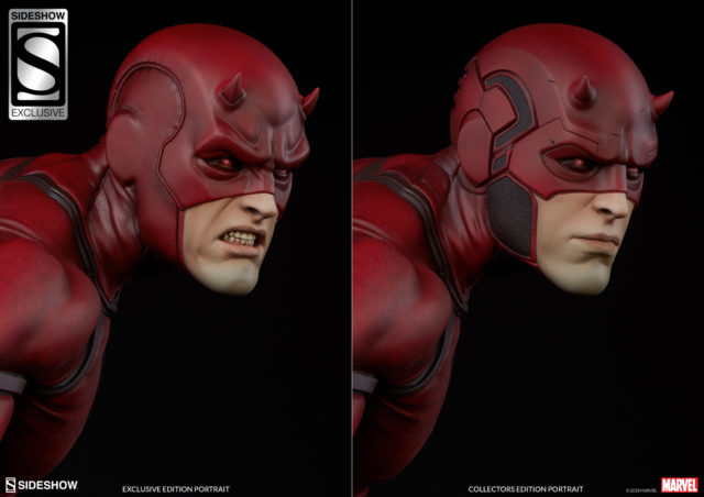 Sideshow Exclusive Daredevil Head Classic Costume