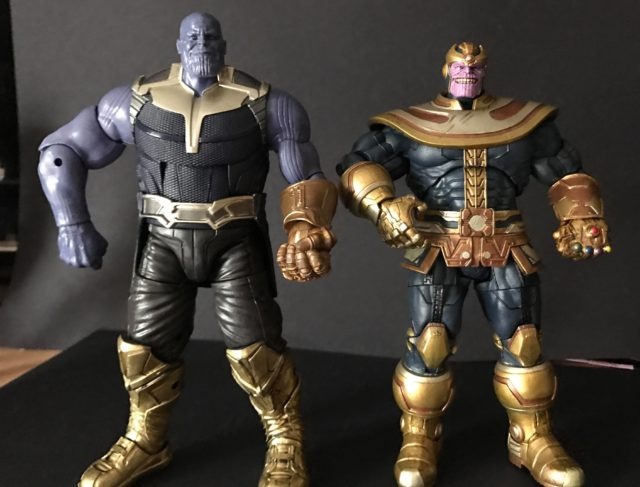 Size Comparison Marvel Legends Thanos Build-A-Figure vs Disney Store Thanos Select Figure