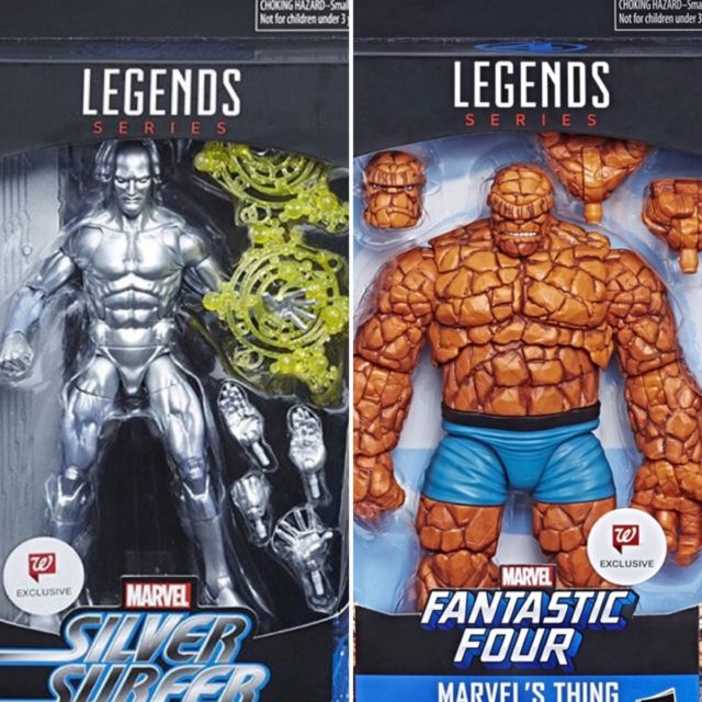 "Walgreens Exclusive Marvel Legends The Thing and Silver Surfer 6"" Figures"