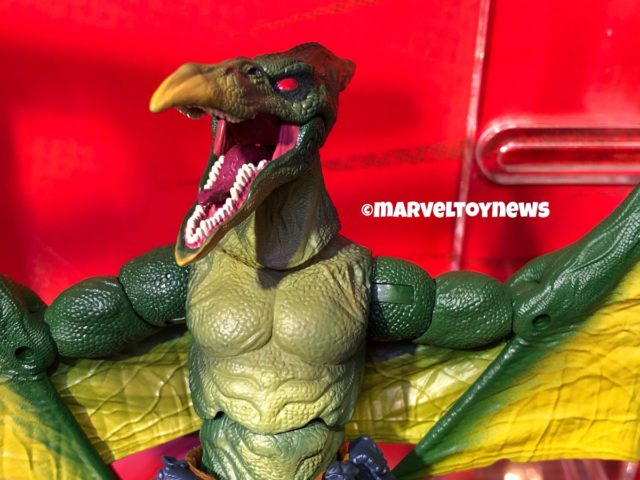 Close-Up of Marvel Legends Sauron Figure Head Pterodactyl Man