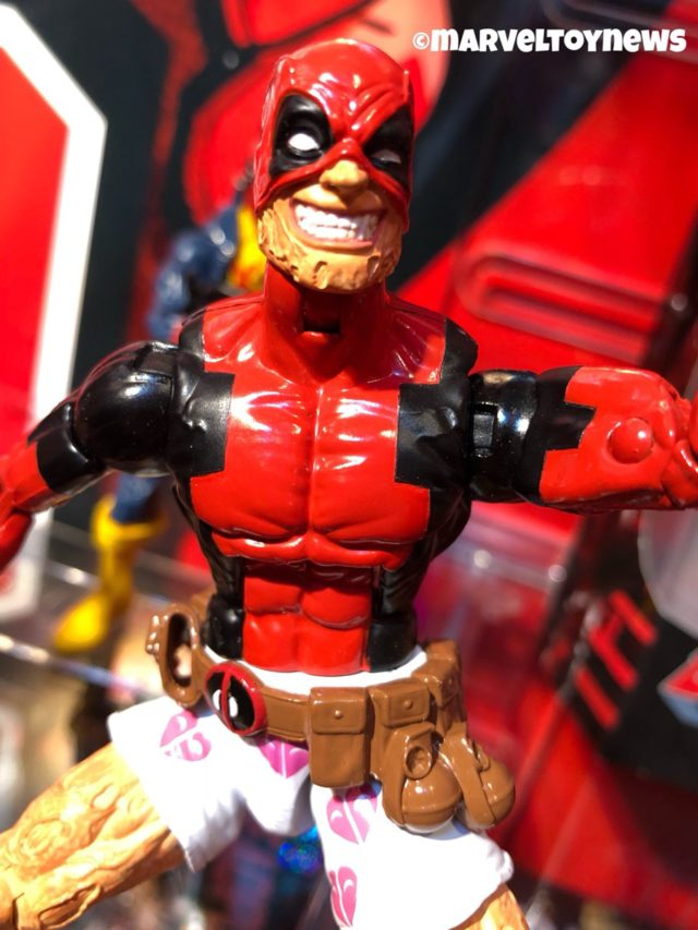 Close-Up of Marvel Legends 2018 Wave 2 Deadpool in Hearts Boxers