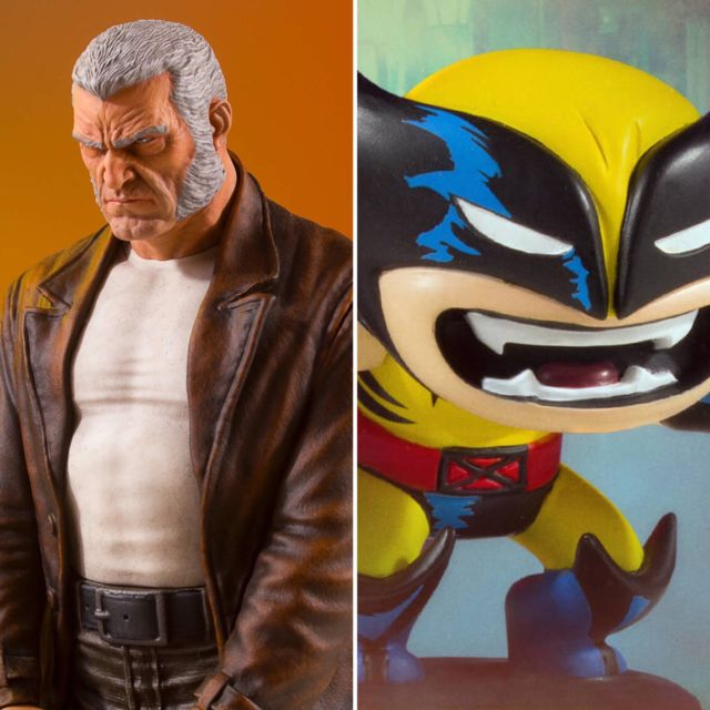 Gentle Giant Marvel Animated Wolveine & Collectors Gallery Old Man Logan Statues